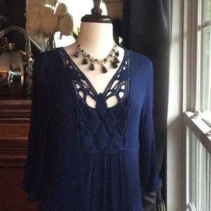 Any Blue Boho Style Dress